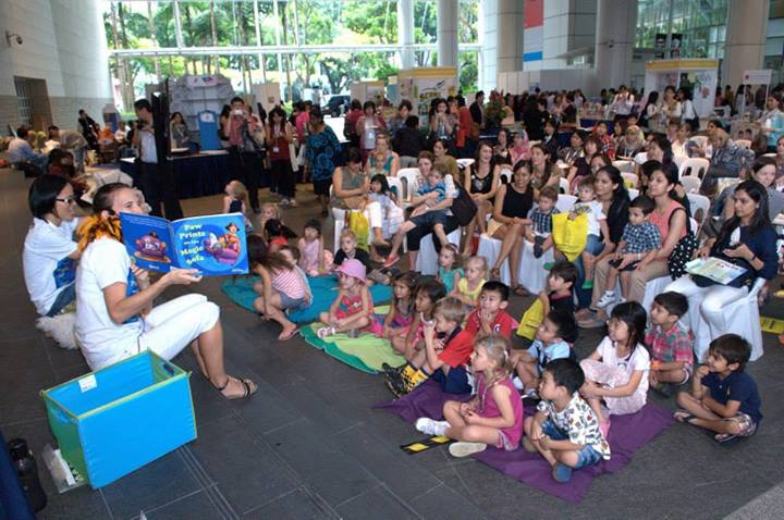 Sarah Mounsey launched her new book Paw Prints on the Magic Sofa at the Asian Festival of Children's Content 2013. The books were illustrated by Jade Fang who also worked on Sarah's first book Purple Paw Prints. Nearly 30 titles by authors from across Asia and Singapore were launched at the Festival.